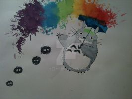Totoro Colour Splash by IsDawg