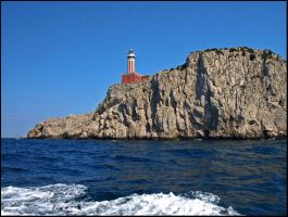 Italy - Lighthouse and Waves by AgiVega