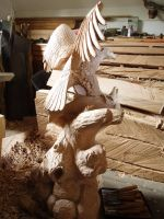 eagle with salmon in progress13 by woodcarve