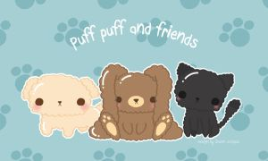 Puff puff and friends by CrazyLleH