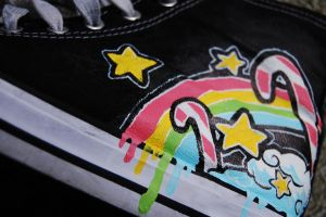 RainbowStars...Chucks by Same-One