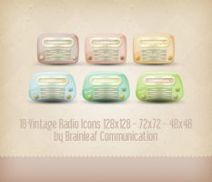 Vintage Radio Icons by Ransie3