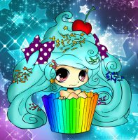 Anime cupcake girl by cutiepiegirl95