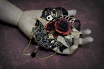 Versailles Rose Brooch 1 by Necrosarium