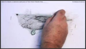 Learn How To Draw A Cartoon Airplane 030 by drawingcourse