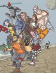 Borderlands 2 full-color group shot by davidstonecipher