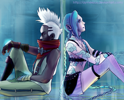 Ekko and Jinx by aymeezus