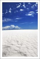 White Sands Blue Sky by Ballisticvole