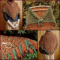 Shawl Wrap Autumn Leaves by WonderfulSun