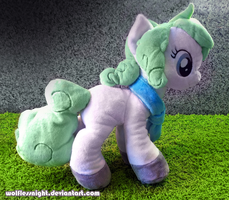 Custom Pony Plush Wintermint II by Wolflessnight