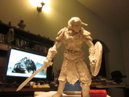 Dovahkiin sculpture wip by maiwand85