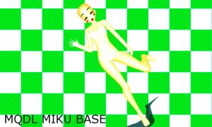 MMD.::Mqld Miku Base::. by iinoone