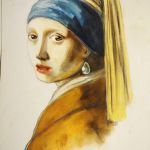 Girl with a pearl earring - chalks by Mafii483