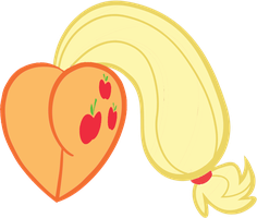 Applejack Heart by Rayodragon