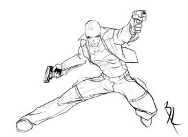 Redhood Lineart by TheBabman