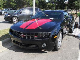 Black with red stripe Camaro by MasterxZealot