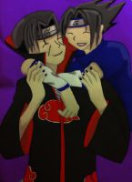 Sasuke and Itachi by redwolf18blue