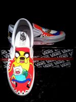 Adventure time Vans *2 by VeryBadThing