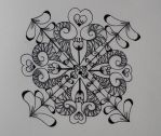 Wood painting  zentangle by CeaSanddorn