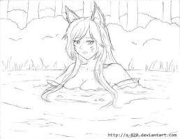 Ahri Sinking in Quicksand by A-020