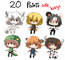 20 points- Chibi cute boys set 2 by Ayuki-Shura-Nyan