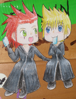 AkuRoku paper children by AshAngel899