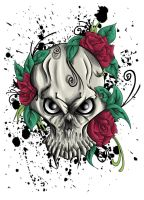 Skull and roses by shadownexu5