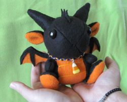 Halloween Dragon Plushie 2 by DragonsAndBeasties