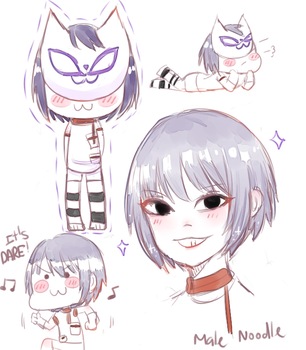 [Gorillaz] Male Noods doodles by Minosachino