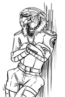 Commission - Casual Garrus by Niuniente