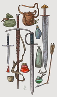 Item Sketches 4 by Nafah