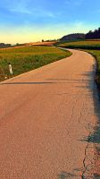 Country road up to the village by patrickjobst