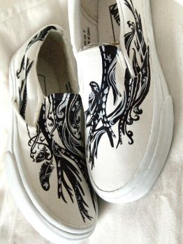 WHITE MAGIC handpainted shoes by feanne