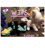 Luxray Vulpix WIPS! by Ami-Plushies