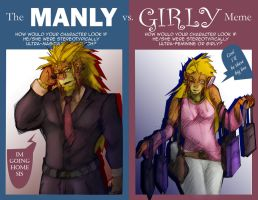 Manly-girly meme by Kibura