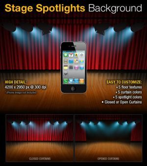 Stage Spotlights Background by PVillage