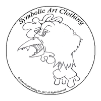 clothing tag logo by symbolicartclothing