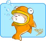 Hamster In a Fish coloured by benhaith