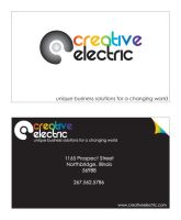 CreativeElectric Business Card by EightiesFresh
