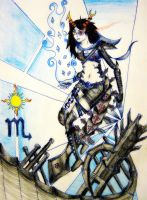 Luck Piercer (Vriska-BRS crossover) by ChaoticUmbra