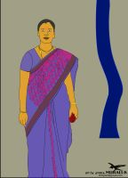 Indian Woman typographical design by sparkMURALI.K by sparkmurali