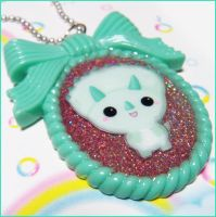 Kawaii Triceratops Necklace by bapity88