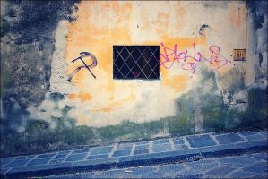 Graffiti and Window by handfat