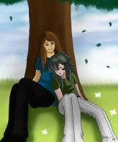 CE - Relaxing under a tree by Oceanmermaid