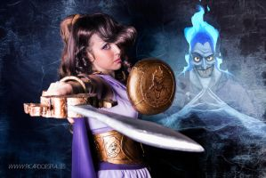Megara Disney Warrior. Ready to Fight by Isawa-Hiromi