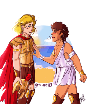 You are home - Achilles and Patroclus by GioTanner