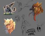 Look at all 'dem cool characters by Summer-Lynx