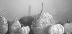 Tumor Gourds and Pumpkins by emilysodders