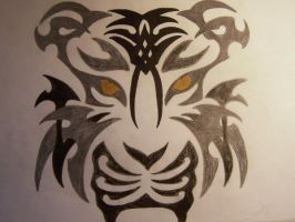 Tribal Tiger by beautifully0chaotic