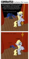 Derpy Jobs - Curtains for Luna by Fetchbeer